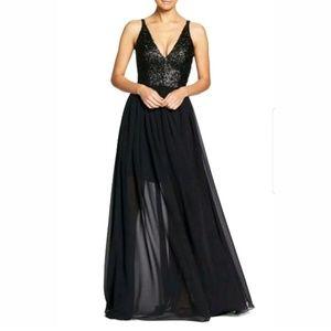 Dress the Population Lori Sequin Chiffon Gown
